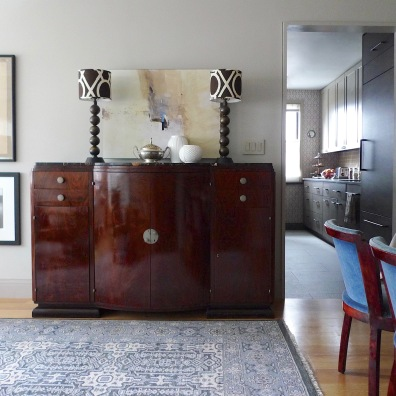 Art Deco sideboard and chairs