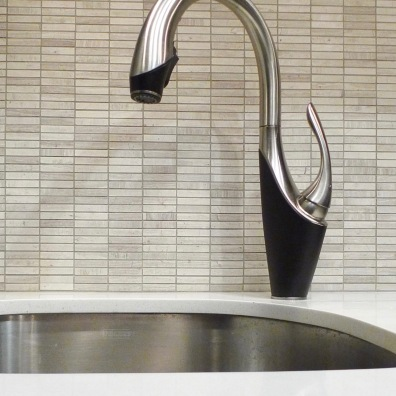Graceful kitchen faucet