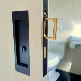 Quality pocket door hardware is a must.