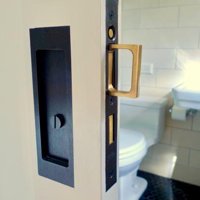 A new pocket door at Steve's Gramercy Park renovation