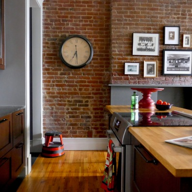 The original exposed brick wall