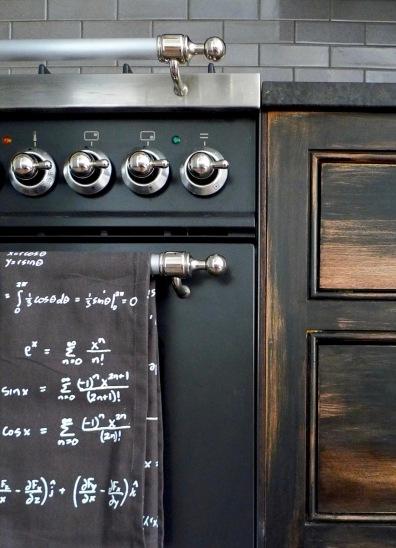 Matte black stove