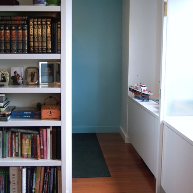 Aqua is a great gender-neutral color for a kid's room.