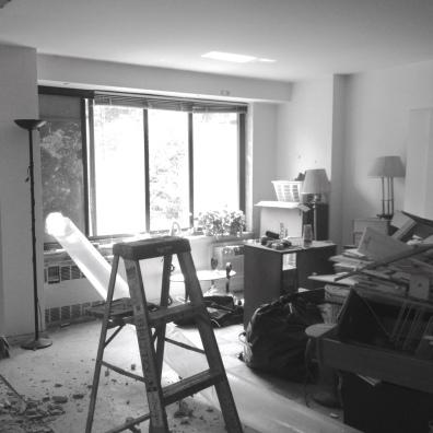 Living room during demolition