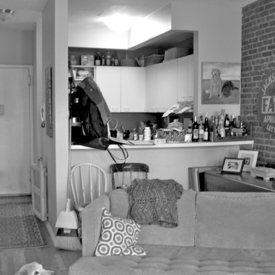 COLUMBUS AVENUE PROJECT. Before: a 1980s formica kitchen